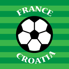 France vs Croatia Soccer Match Template