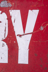 Written Wording in Distressed State Typography Found Letter Y
