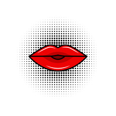 mouth design over dotted background vector illustration
