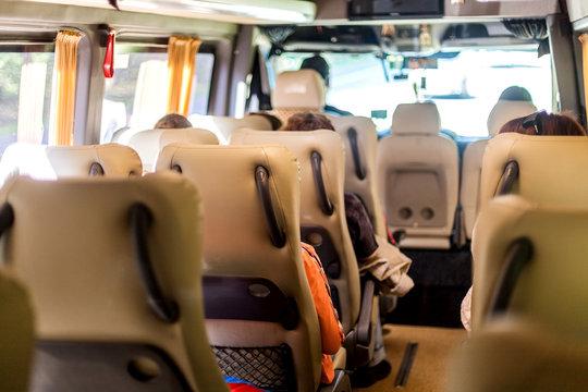 Seats inside the minivan