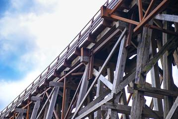 Kinsol Trestle wooden railroad bridge in Vancouver Island