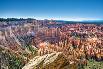 Beautiful mountain view. Bryce Amphitheater from Inspiration Point, Bryce Canyon National Park, Utah, USA