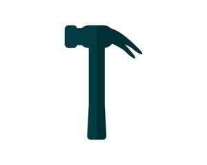 hammer construction repair fix engineering tool equipment image vector icon logo