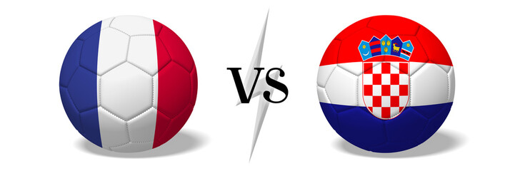 Soccerball concept - France vs Croatia