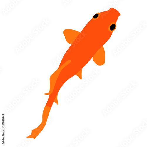 気持ちよさそうに泳ぐ金魚のイラストfotoliacom の ストック画像と