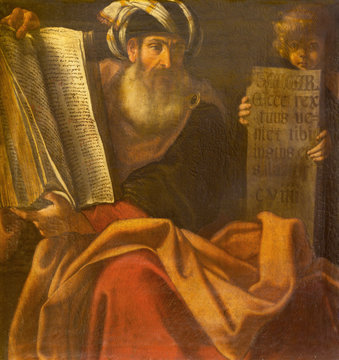 BOLOGNA, ITALY - APRIL 18, 2018: The painting of prophet Zechariah in church Chiesa di San Benedetto by Giacomo Gavedoni (1577 - 1660).