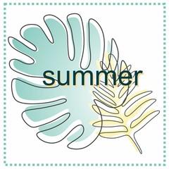 "original, juicy, summer card on the theme ""summer"""