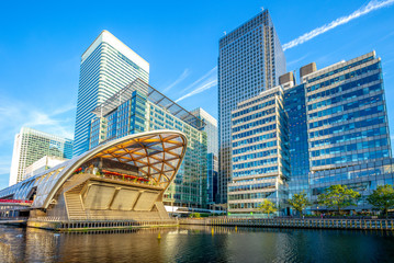 Canary Wharf on the Isle of Dogs in Greater London