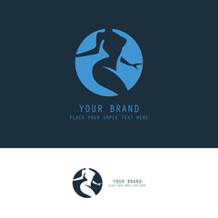 abstract body woman logo