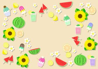 夏の甘いスイーツ