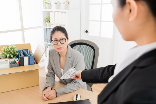 woman is fired and boss gave her severance payment
