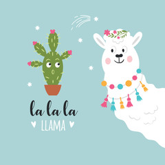 llama vector illustration