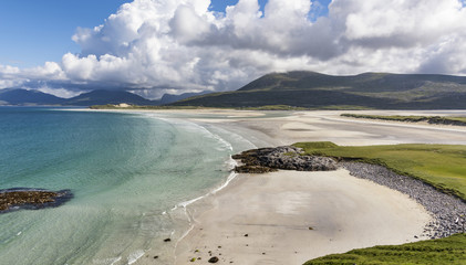 Seilebost bay, Isle of Harris on a glorious summer day.