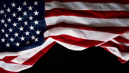 US flag black Background
