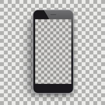 Black Smartphone Transparent