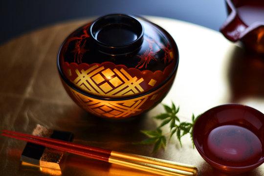 美しい日本の漆器でテーブルコーディネイト
