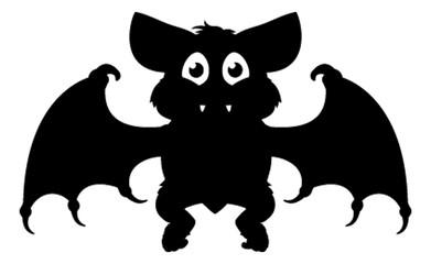 Halloween Cartoon Bat Silhouette