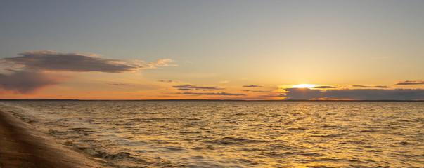 Закат на Горьковском водрохранилище