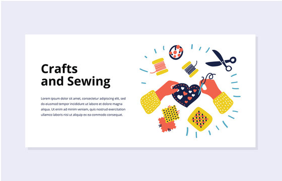 Concepts for sewing, accessories, handy made