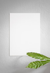 Blank white Photo Frame Hanging Wall for Design Mockup Template.