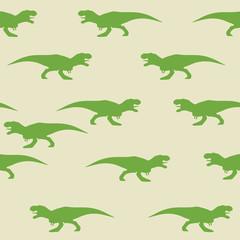 Dinosaur tyrannosaurus silhouette pattern seamless