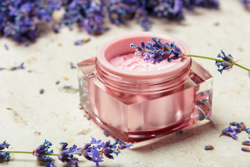 natural facial cream with lavender