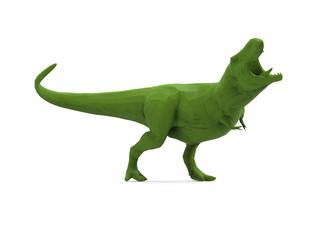 Low Poly T-Rex Dinosaur 3D Render