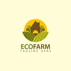 Eco Farm Logo Vector Template Design Illustration