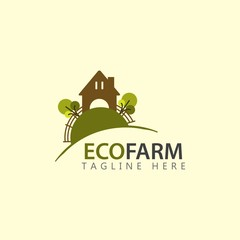 Eco Farm Logo Vector Template Design Illustration