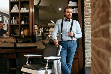 Male Barber Portrait In Men Hair Salon