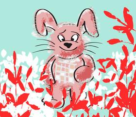 paashaas in roze tinten
