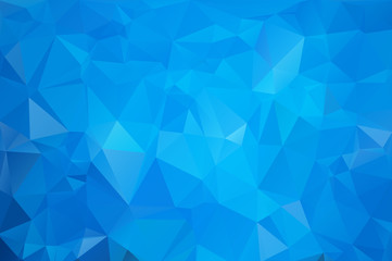 Cold blue abstract background of triangles