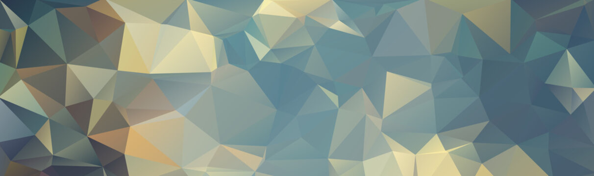 Colorful abstract background from triangles, green and yellow gradient color. Military background. Paintball
