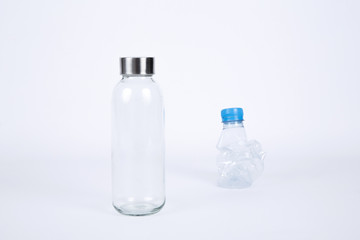 glass and plastic bottles