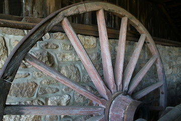 The old wooden wheel.
