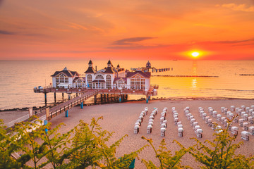 Wall Mural - Sellin Pier at sunrise, Ostsee, Germany