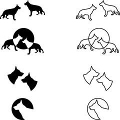 Deutscher Schäferhund, Sammlung, Logos, Aufkleber, Label