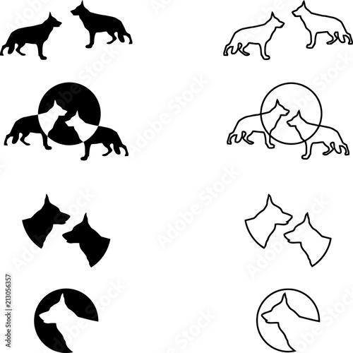 Deutscher Schäferhund Sammlung Logos Aufkleber Label
