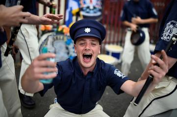 Members of Loyalist Orders participate in Twelfth of July celebrations in Belfast