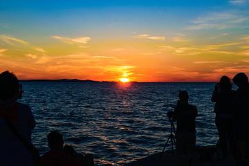 Sunset at Zadar, Croatia