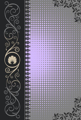 Wall Mural - Decorative background with elegant patterns.