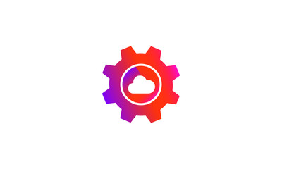 setting cloud database button vector icon