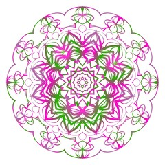 floral mandala, decorative ornament. design for print fabric, tatto. vector.