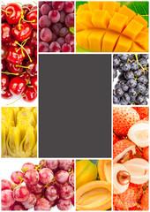 cadre de fruits