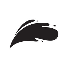Carved silhouette flat icon, simple vector design. Set of drops for illustration of water splash, spray and spill liquid
