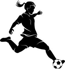 Soccer Girl Silhouette