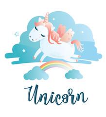 "Greeting card with ""Unicorn"" inscription"