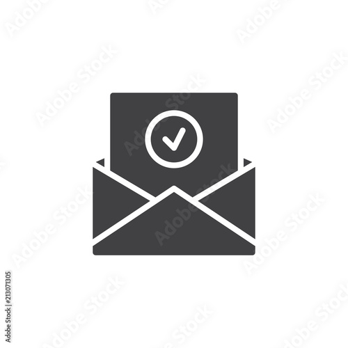 approval mail vector icon filled flat sign for mobile concept and
