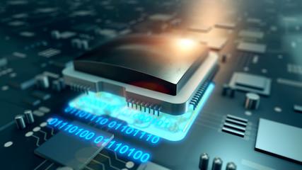 Big data stream on circuit board