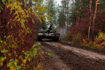 Ukraine Donbass military conflict armed forces and tanks to protect freedom and independence